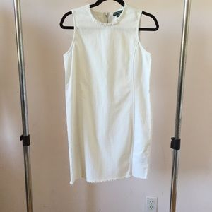 Ralph Lauren Raw Cut White Denim Dress